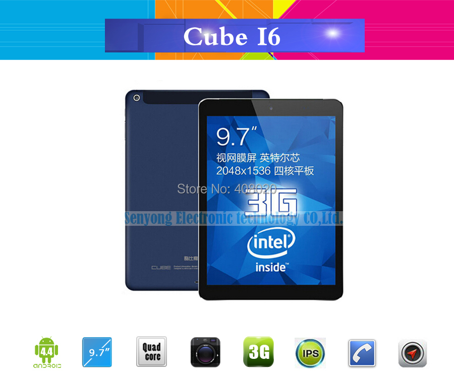 Original Cube I6 Dual Boot Tablet PC 9 7 3G Phone Call 2048 1536 Retina Android