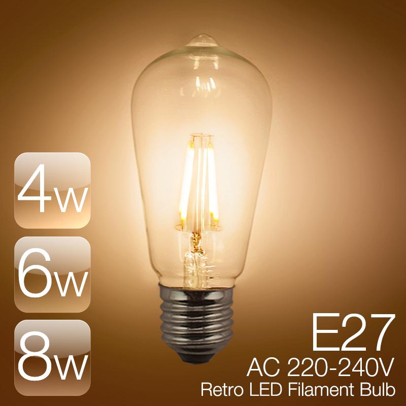 led light ultra bright decorative led filament bulbs bombillas lights. Black Bedroom Furniture Sets. Home Design Ideas