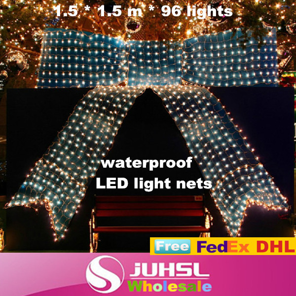fashion colorful flashing lights led net, curtain lights, festivals, theater and other decorative lighting, 1.5m * 1.5 m, 10x(China (Mainland))