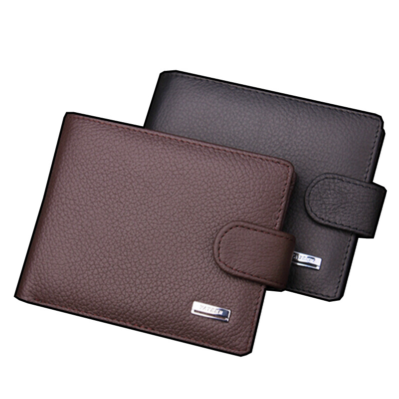 2015 New 100 Genuine Leather Wallet High quality fashion hasp purse men Wholesale Leather men Wallets