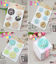 11.5*18.2cm 3 types for selection flower scrapbook Photo Album Accessories 1set/lot 048012087(China (Mainland))