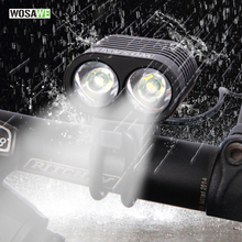Buy WOSAWE Bicycle Light Ultra Bright 2 LED 2400Lumen Bike Light CREE XML T6 Bicicleta Front Head Light Cycling Lamp USB Cable for $15.83 in AliExpress store