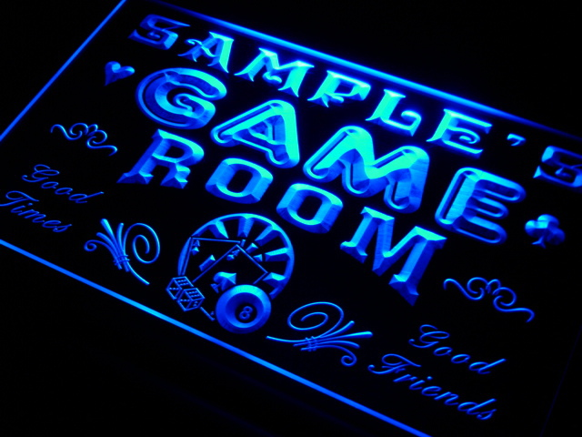 Personalized Neon Man Cave Signs : Pl tm name personalized custom game room man cave bar beer