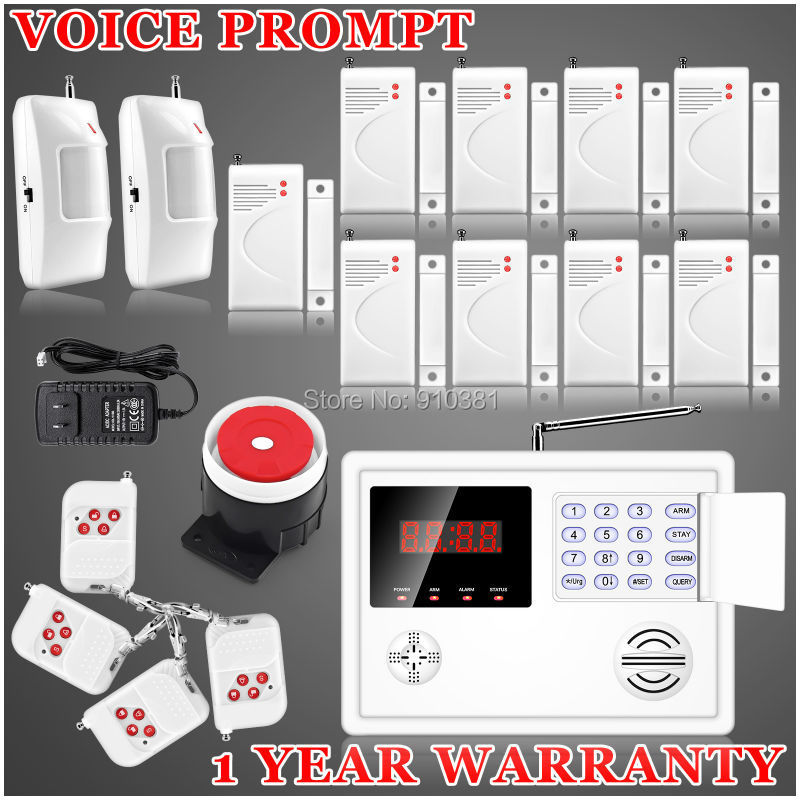 New Remote Arm/Disarm 120 Wireless zones PSTN SMS Home Secure Burglar Voice Intruder Alarma Back-up battery included auto Dial<br><br>Aliexpress
