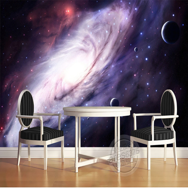3d purple galaxy wallpaper for bedroom charming wall mural for 3d effect bedroom wallpaper
