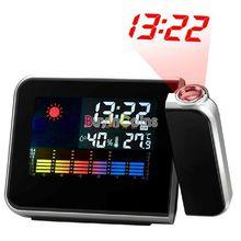 Proyección del tiempo Digital multifunción reloj despertador nosotros como #7003(China (Mainland))