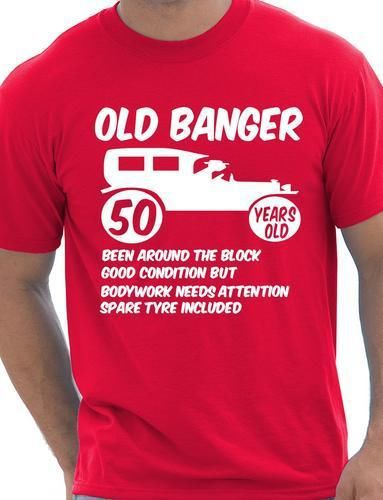 50th Fifty Mens Funny Age 50 Birthday T-Shirt Old Banger! More Size and Colors()