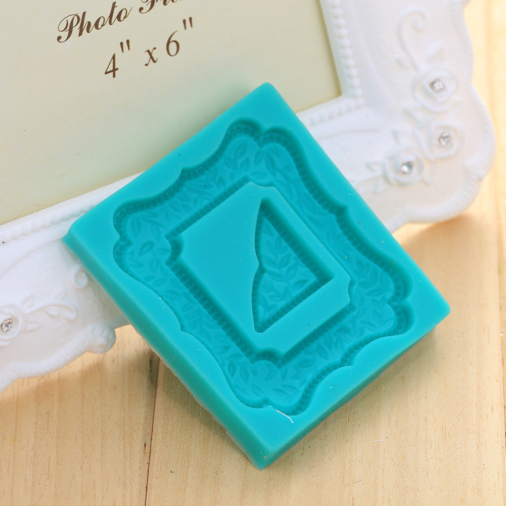 New Fasion 3D Photo Frame Silicone Fondant Mould Cake Decorating Candy Sugarcraft Baking Good Quality(China (Mainland))
