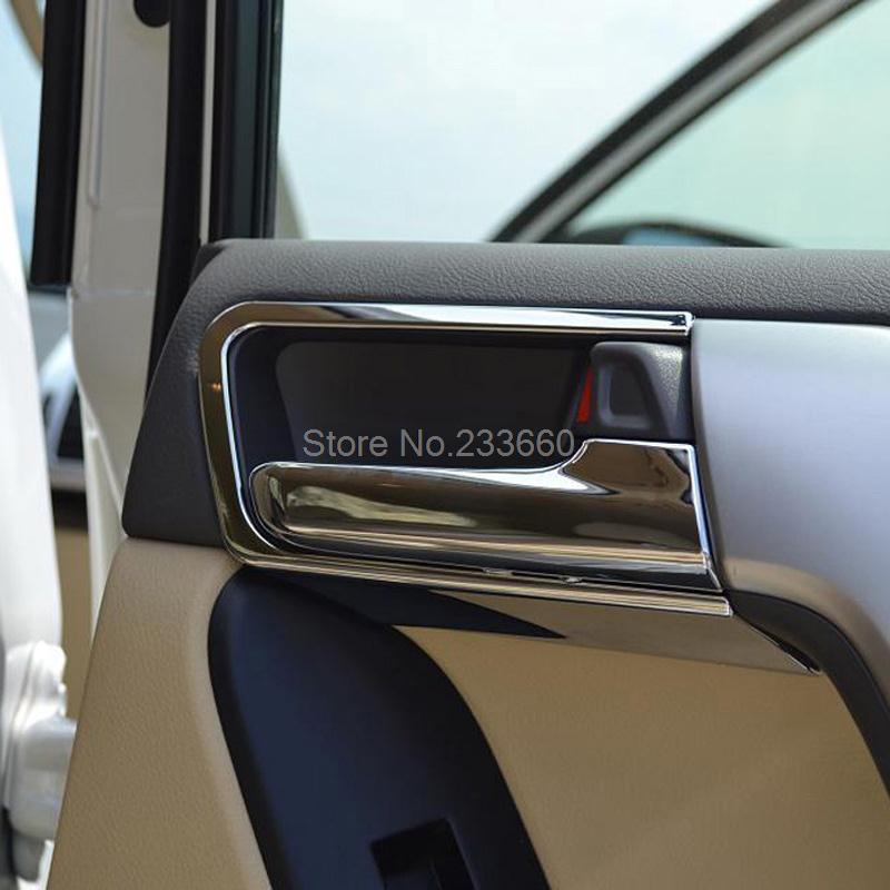 For Toyota Land Cruiser Prado J150 2700/4000 2014 2015 Chrome Interior Door Handle Cover Trims Door Handles Covers(China (Mainland))