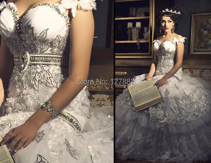 spaghetti sweetheart neckline luxury mermaid wedding dresses bling ...