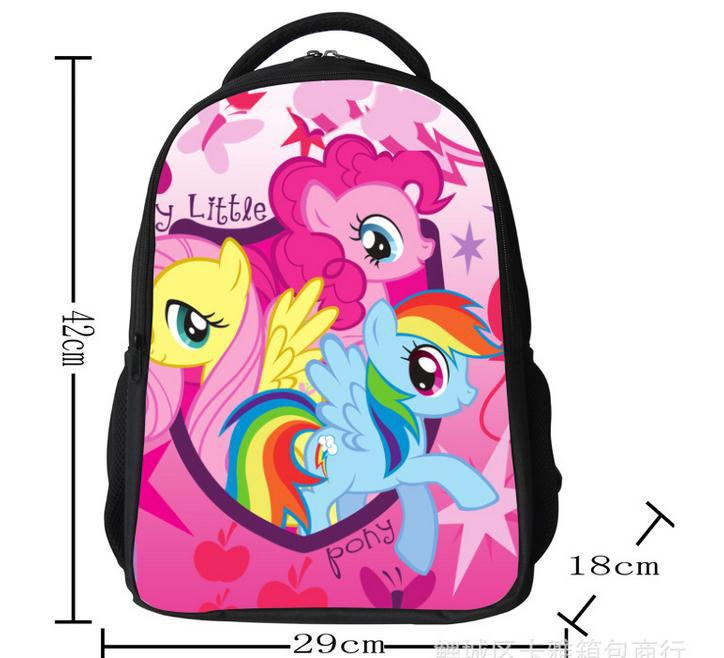 2014 New printing backpack girls cartoon my little pony ...