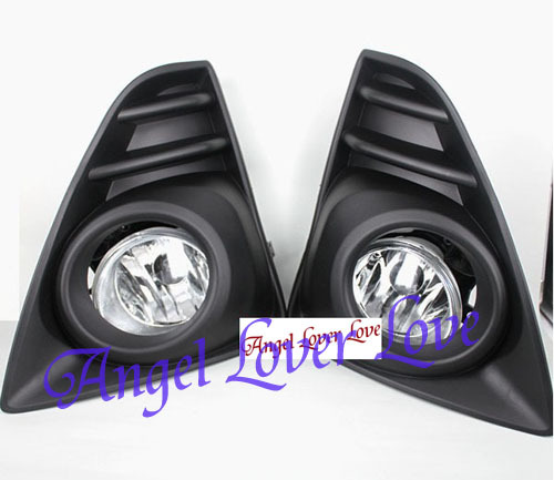 Free Shipping! Auto Car Fog lights TOYOTA YARIS 2014~ON Clear Lens one PAIR SET + Wiring Kit(China (Mainland))