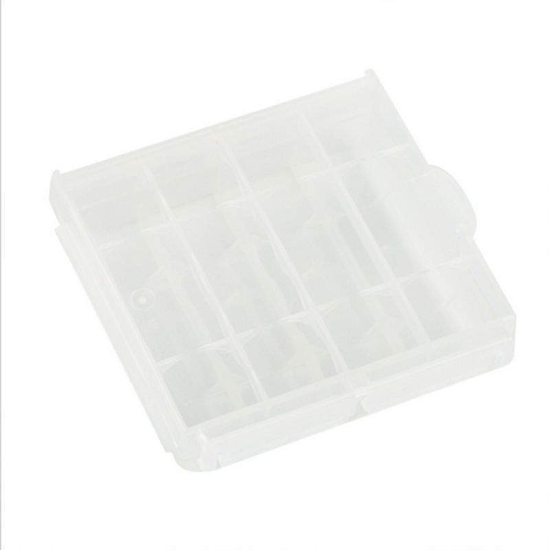 5pcs lot Hard Plastic White Cases Cover Holder AA AAA Battery Storage Box HOT Free Shipping