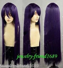 Wholesale& heat resistant LY free shipping>>>New Cosplay wig Ichinose Kotomi long Dark PurPle Heat Resistant Wig