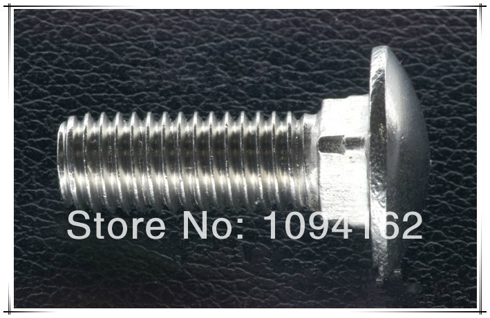 M10*35 Stainless steel carriage bolt DIN603 50pcs/lot(China (Mainland))