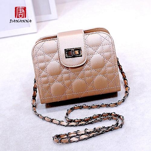 2016 Famous Brand Designer Woman Small Flap shoulder bag Chain Quilted Leather Tote Bag Mini Shoulder Messenger Handbag(China (Mainland))