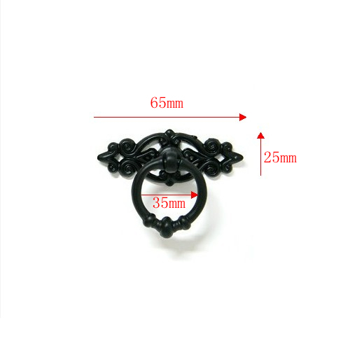 Antique style black furniture handles/pulls/knobs for doors/cabinets/cupboards(China (Mainland))