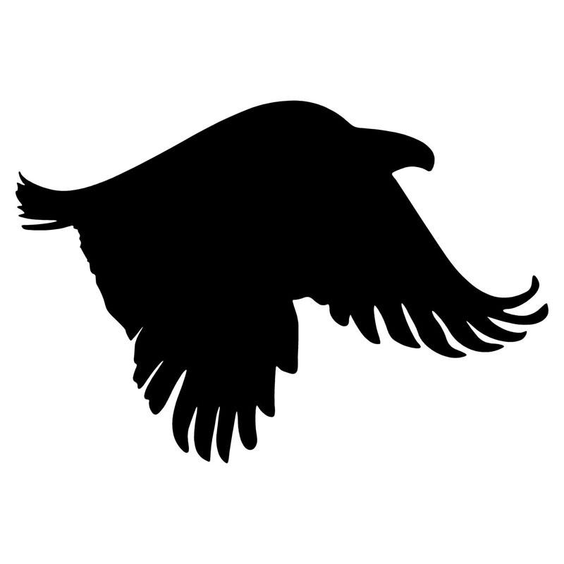 14.3*9.8CM Flying Cool Eagle Falcon Car Stickers Stylish Vinyl Car Styling Decals Accessories Black/Silver C9-1028(China (Mainland))