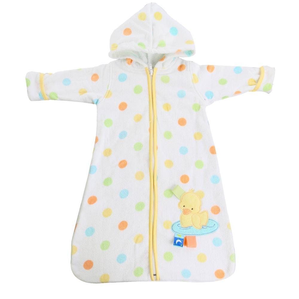 1 pcs/lot Cotton Baby Sleepers Kids Pajamas Sleeping Bag Velour Pile Sleepsack For Newborn Baby Zipper Front Free Shipping(China (Mainland))