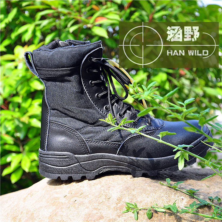 US special forces tactical boots wholesale SWAT combat boots desert boots leather combat boots military fans(China (Mainland))