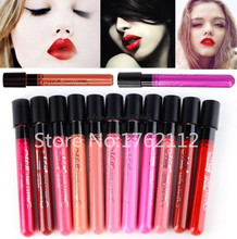 Women Ladies Arrival 2016 Waterproof Elegant Color Lipstick Matte Smooth Lip Stick Lipgloss Long Lasting Sweet Girl Lip Makeup(China (Mainland))