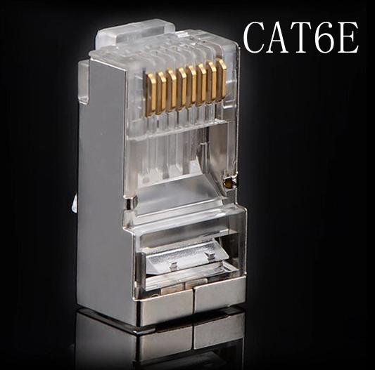 5000Pcs/lot Metal Shield RJ-45 8P8C Network CAT6 Modular Plug CAT6E RJ45 Modular Plug Adapter Ethernet Lan Cable Connector(China (Mainland))