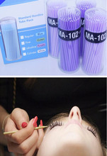 100pcs/lot Durable Micro Disposable Eyelash Extension Individual Applicators Mascara Brush For Women Wholesale