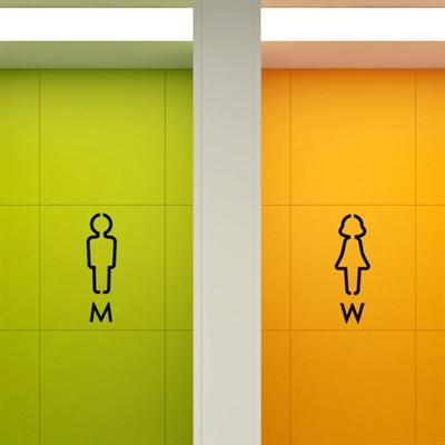 men and women creative toilet stickers wall stickers bathroom toilet door stickers decorative glass doors(China (Mainland))