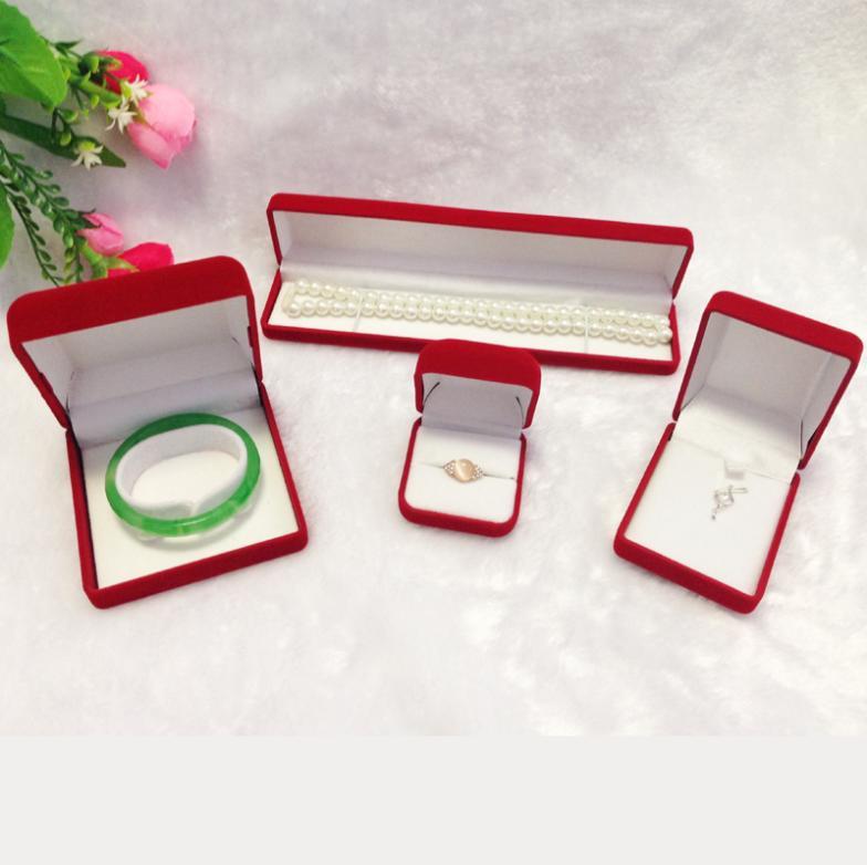 Buy red velvet jewelry box set gift for Red velvet jewelry gift boxes