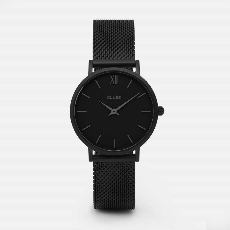 montre cluse Minuit Mesh Full Black Womens Watch CL30011 Quartz Watch Men watch leather watch 2016 Top Brand luxury Women Watch<br><br>Aliexpress