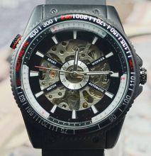 Ganador reloj mecánico para hombre del reloj de la tendencia de la moda para hombre chicos totalmente automáticos j087