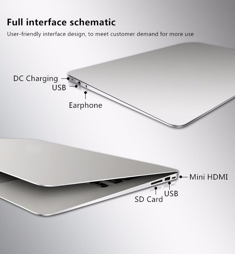 Metal Base Windows10 4GB RAM+128GB 8000mAh Battery ultrathin 1920X1080HD Quad Core Fast Running Netbook laptop Computer Notebook
