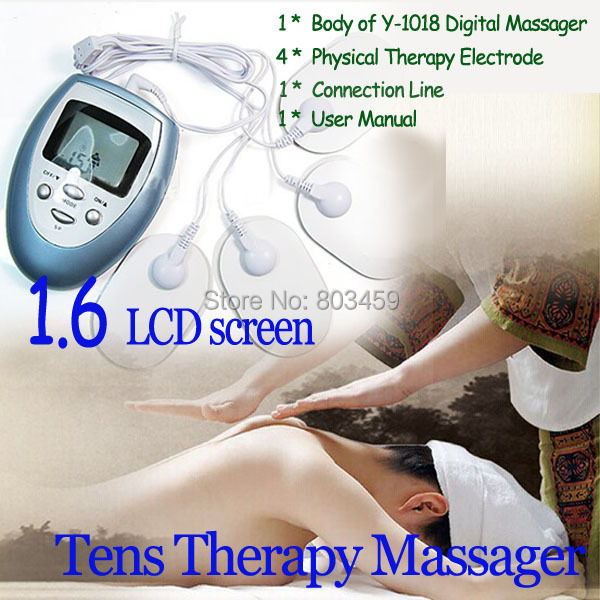 Massageador Electric Slimming Massager Pulse Muscle Pain Relief Fat Burn Relaxation Tens Therapy Massager With LCD Screen(China (Mainland))