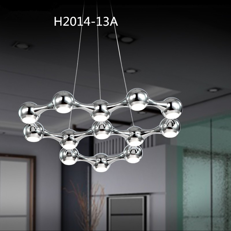 Luxury Crystal Chandelier Lighting Chrome White Black Lamps Art Lights Ceiling Mounted Ball Chandeliers Luster suspension Light(China (Mainland))