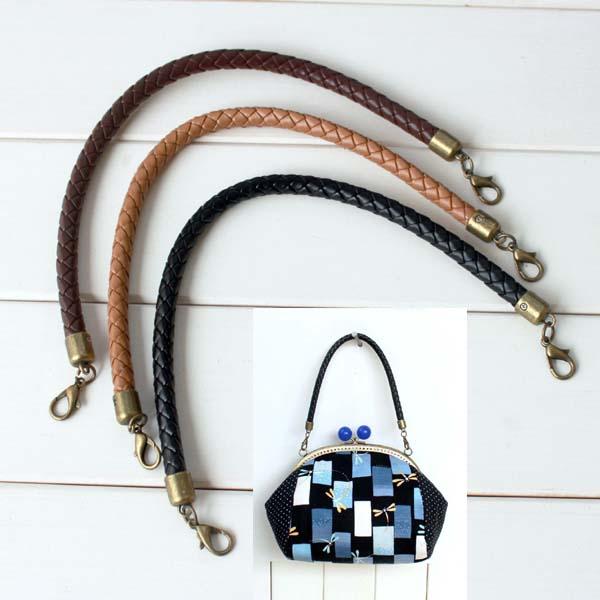 Wooden Bamboo Plastic Bag Handle Szie 9mm Diameter 35cm Length DIY Accessories Bag Hanger Fashion PU Leather Purse Handle(Hong Kong)