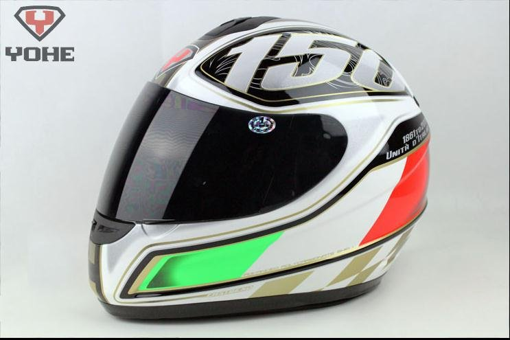 Free shipping YOHE motorcycle full face helmet,with neck cover exceed DOT,ECE,AS/NZS,NBR,SNELL standard,YH-993B Collection(China (Mainland))