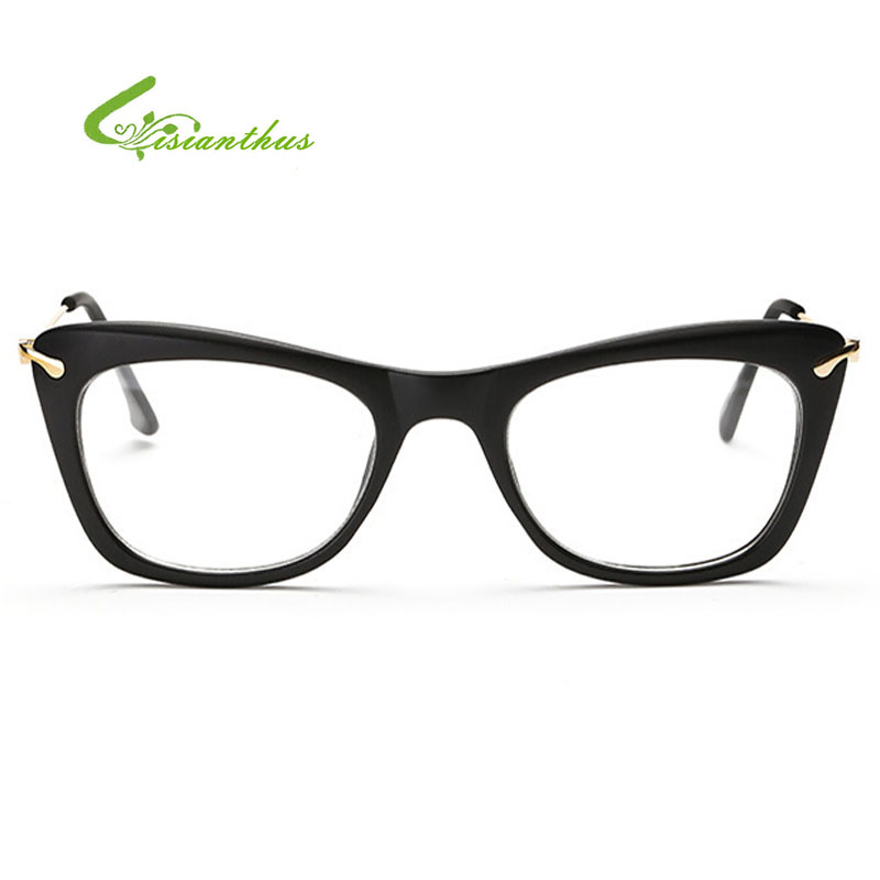 Cat Eye Flat Mirror Light Metal Thin Leg Glasses Myopia Eyeware Man and Women Reading Glasses High Quality Multi Colour Glasses(China (Mainland))