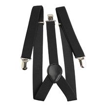 Elastic Brace Suspender Y Back Neon Clip-on Belt for Overall Adult Child
