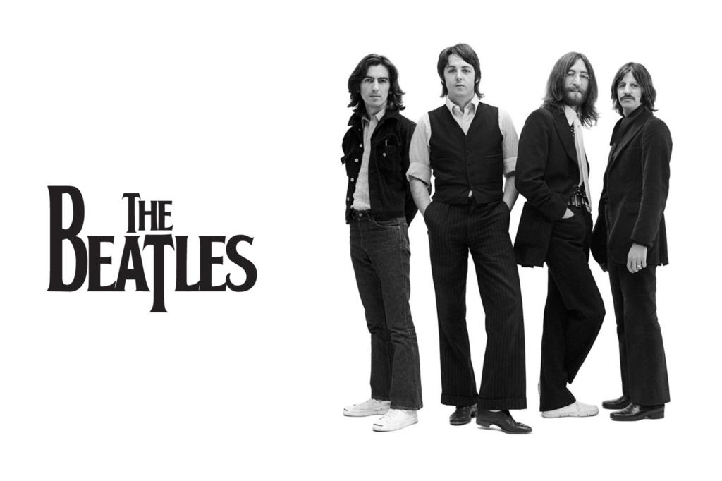 This Page Contains Information About Beatles Black And White Poster
