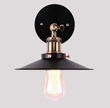 Бесплатная доставка искусство освещения промышленного E27 эдисон бра старинные железная закончил флягодержатель освещение место для украшения дома