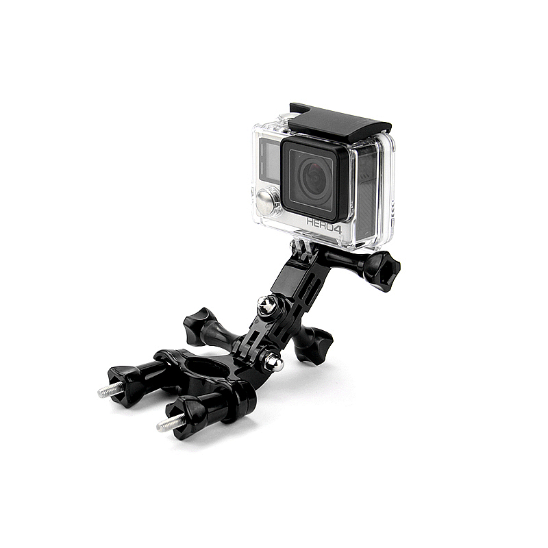 GoPro accessories Bike Motorcycle Handlebar Seatpost Pole Mount & 3 Way Adjustable Pivot Arm for Go pro Hero 3 3+ xiaomi yi GP02