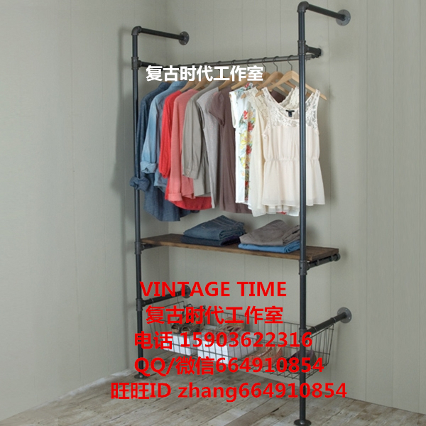 Industrial pipe hanger retro style clothing display rack clothing industry personality pipeline(China (Mainland))