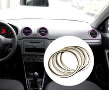 For Volkswagen vw New Jetta trim stainless steel trim air conditioning outlet decoration circle light trim