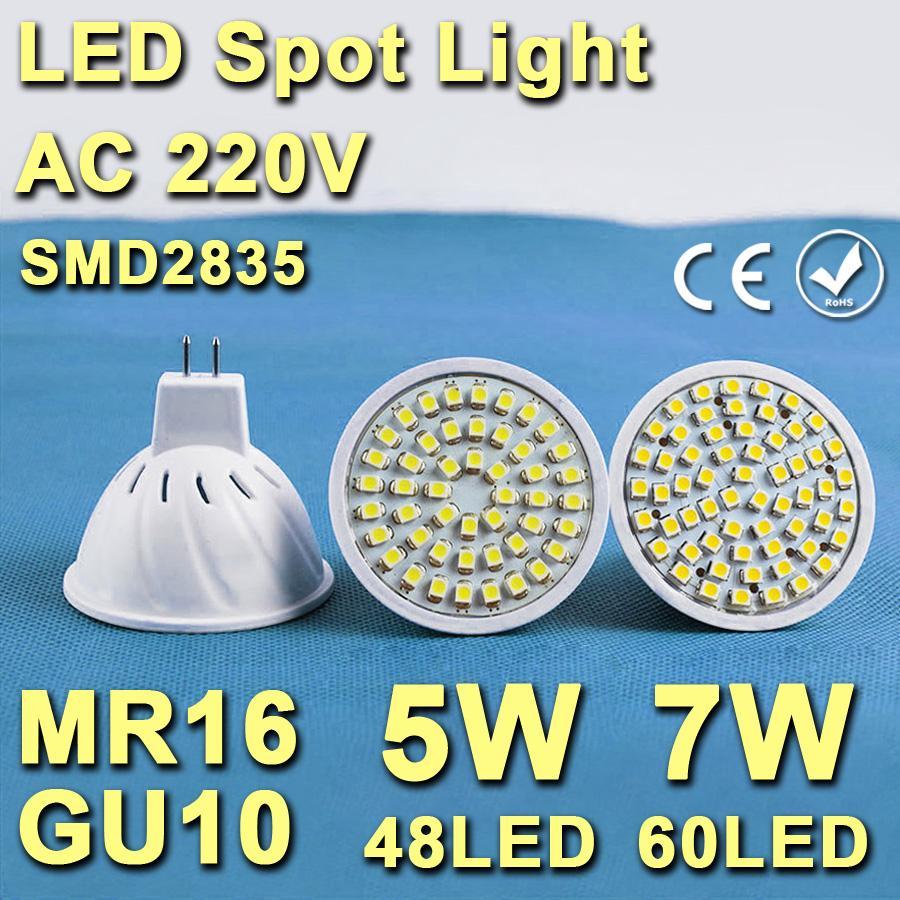 AC 220V 5W 7W MR16 GU10 Led Lamp SMD 3528 Led Spotlight Warm Cold White Spot Light LED Bulb Energy Saving Lampada Ampoule Led<br><br>Aliexpress