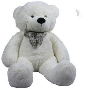 stuffed animal plush 80cm cute teddy bear white plush toy throw pillow w946(China (Mainland))