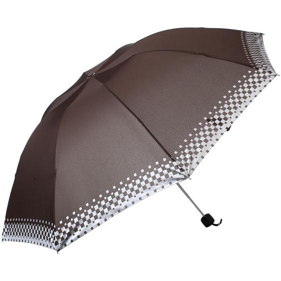 The big umbrella surface/India/silver/seventy percent off/Plaid sunny rainy day coffee /D318//Chinese Brand/2016 new/(China (Mainland))