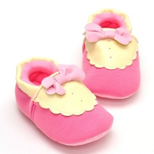 New bow pink baby shoes infant girls fashion children kids first walkers(China (Mainland))