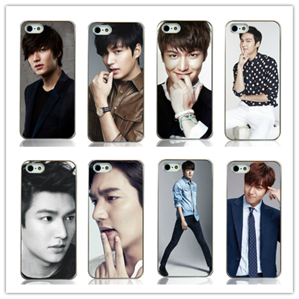 wholesale 8pcs/lot New lee min ho white Hard Back Case Cover for iphone 4 4s 4G Free shipping(China (Mainland))