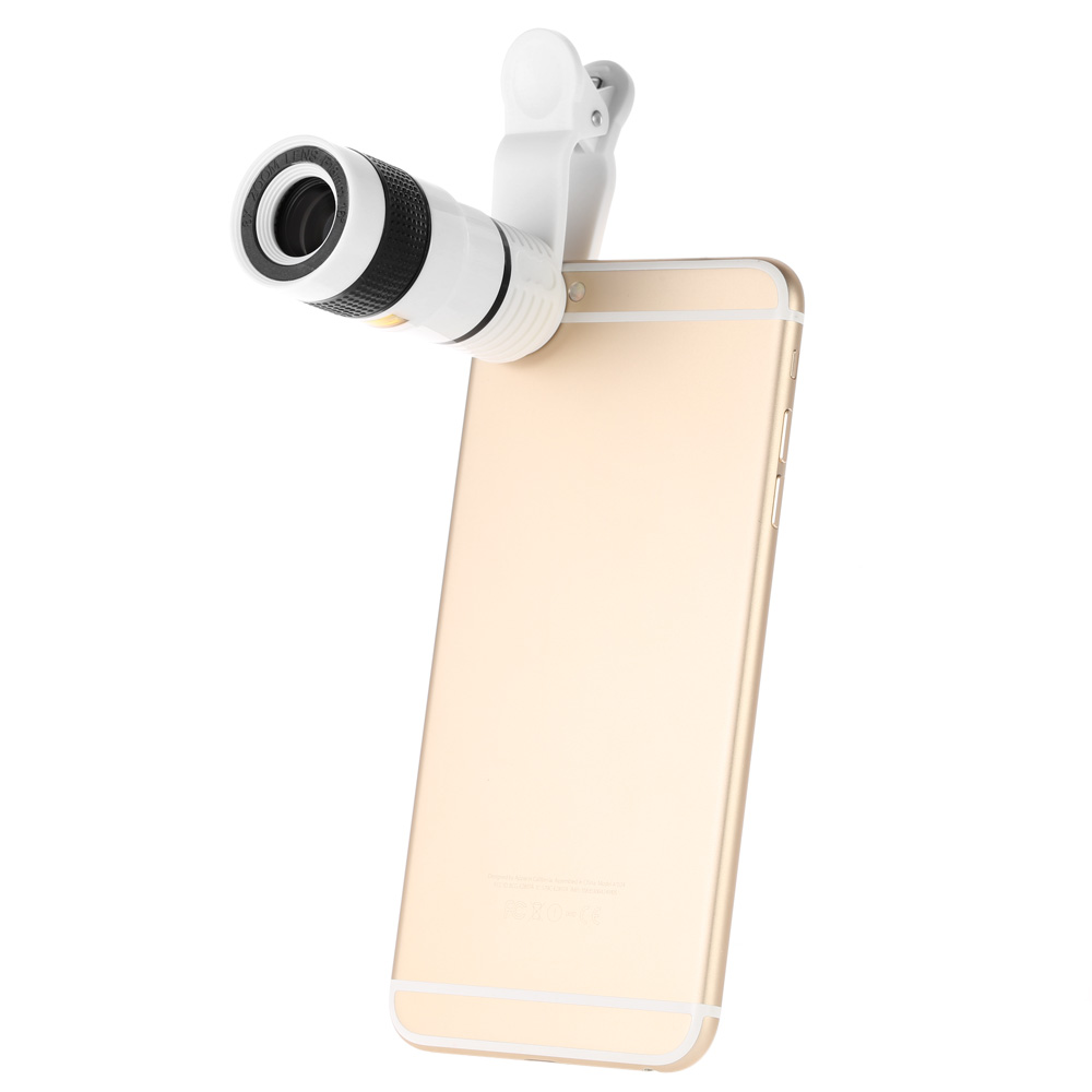 Universal Special Design 8X Zoom Phone Telephoto Camera Lens with Clip for iPhone Samsung HTC(China (Mainland))