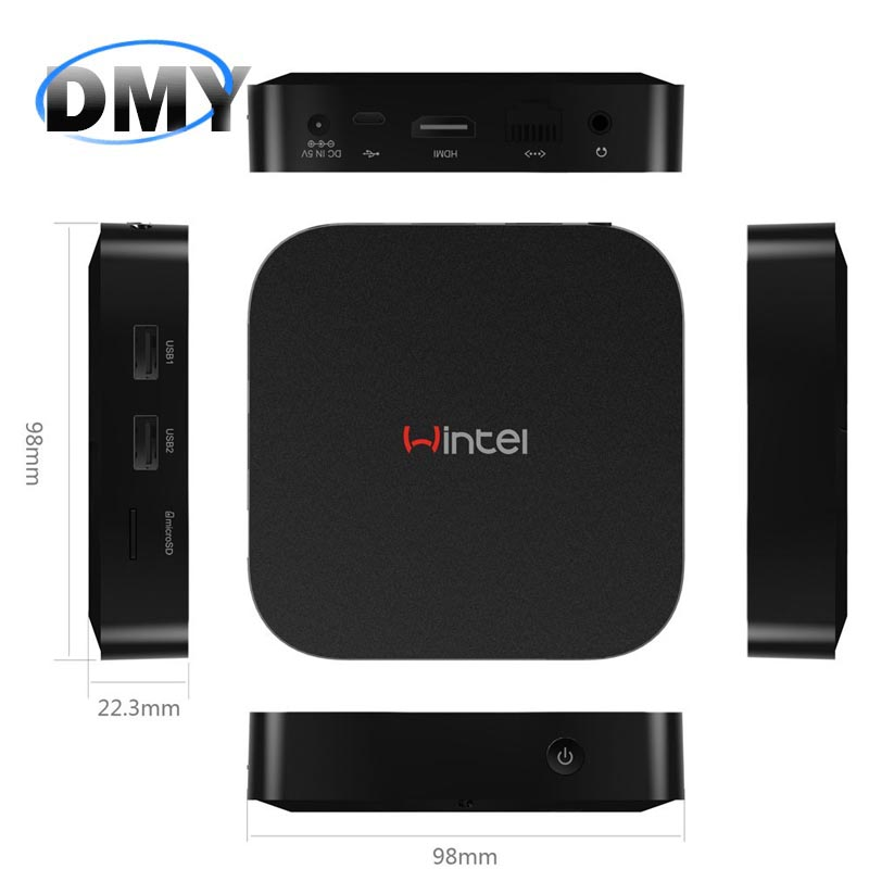 Portable Mini PC Wintel W8 Z3735F Quad Core Dual Boot WiFi Smart TV Box 2GB / 32GB Bluetooth 4.0 Support Windows 10/Android 4.4(China (Mainland))